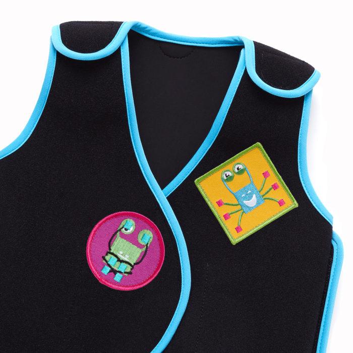 PunkinHug vest with Crabster PunkinPals