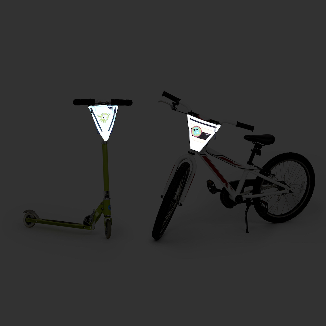 PunkinPies on Scooter and Bicycle in the dark