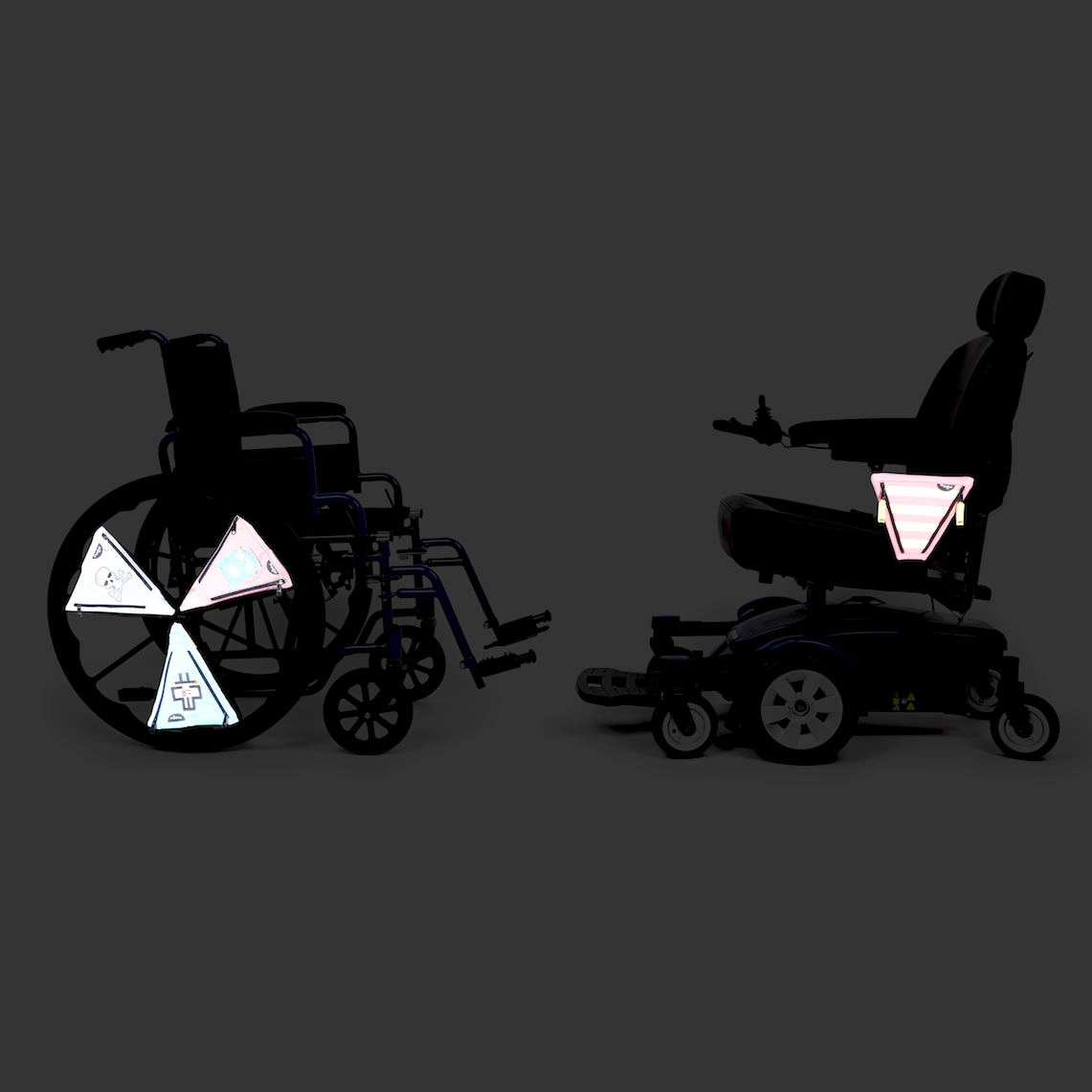 PunkinPies on Wheelchairs in the dark