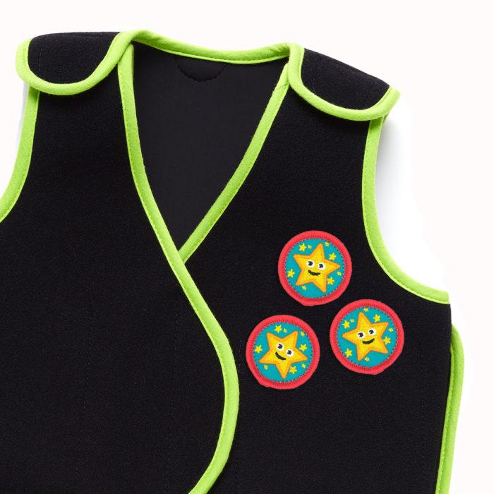 PunkinHug vest with PunkinStars patches