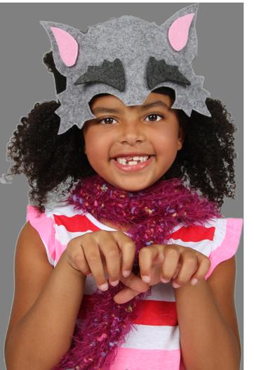 Girl wearing PunkinHeads